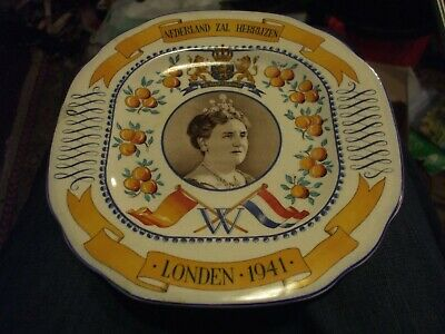 1939-1945 12 cm plate 1986 Vintage WWII VETERANS W.A.A.F