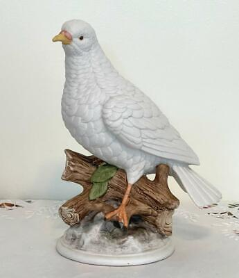 Vintage Gift Craft White Dove Bird Figurine Japan  Symbol of  Peace and Hope