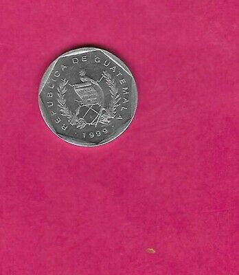 Guatemala Km282 1999  Uncirculated-Unc Mint-Bu Old Vintage Centavo Coin