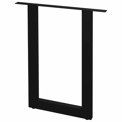 vidaXL 2x Dining Table Legs O Frame 70cm Kitchen Desk Support Replacement Leg