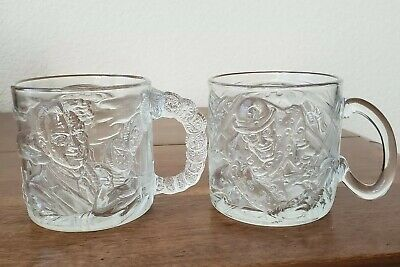 Mcdonalds Batman Forever 1995 Glasses/Mugs,Riddler And Two Face - Set of 2 Cups
