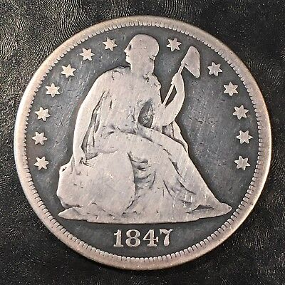 1847 Seated Liberty Dollar - High Quality Scans #H266