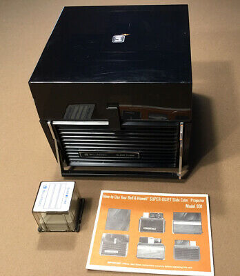 Vintage Bell and Howell Slide Cube Projector #991 with Remote & 12 cubes