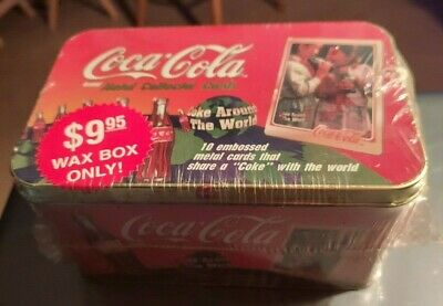 1996 Coca-Cola Collector's Metal Card Tin 10 metal cards