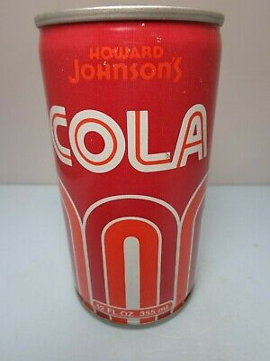 Howard Johnson's Cola Crimped Steel Stay Tab Soda Pop Can Boston, Ma.