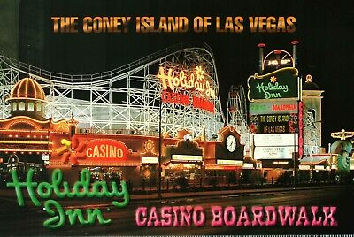 "Las Vegas Postcard --Holiday Inn Casino Boardwalk - ""The Coney Island of Vegas"""