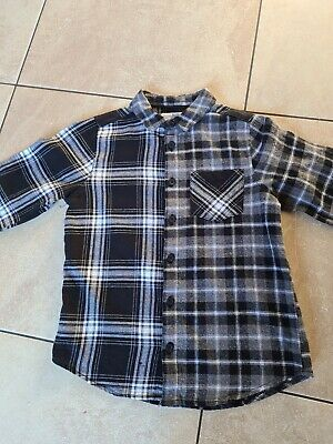 Boys MATALAN black check shirt aged 8 years FAB