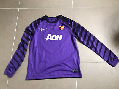 MANCHESTER UNITED RARE Vintage goalkeeper football kit shirt top Age 13-15