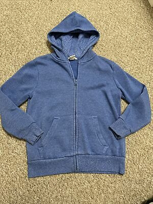 H&M Boys Blue Zip Up Hoody 6-8 Years