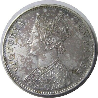 elf India Alwar State 1 Rupee 1891 Silver Victoria