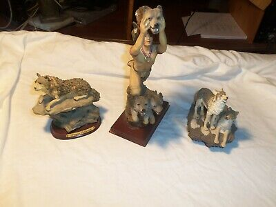 Indian with wolves,Wolf by premier collection, 2 wolves