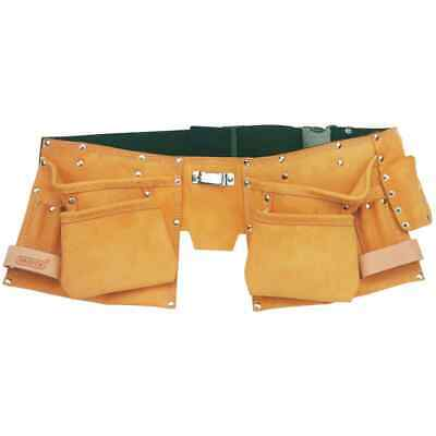 Draper Tools Double Leather Tool Belt Apricot Lightweight Tool Belt Bag Pouch