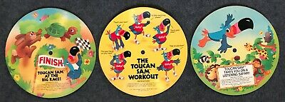 Flexi Disc - Cardboard Records TOUCAN SAM Workout Fruit Loops Cereal LOT OF 3