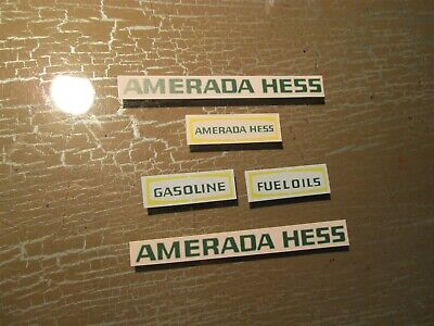 Waterslide Decal Set For 1969 Amerada Hess Toy Truck