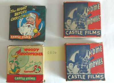 Castle Films, 16 mm movies lot of 4 Night Before Christmas, Knock Knock, 560 336
