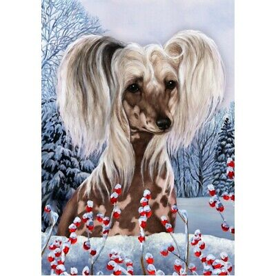 Winter Garden Flag - Chinese Crested 150691
