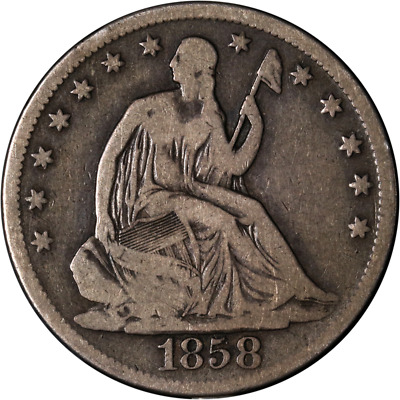 1858-S Seated Half Dollar Great Deals From The Executive Coin Company