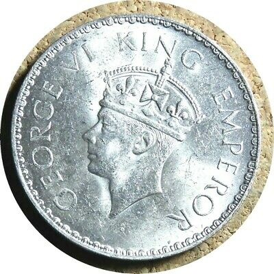 elf India British 1 Rupee 1941 (b) Silver George VI  World War II