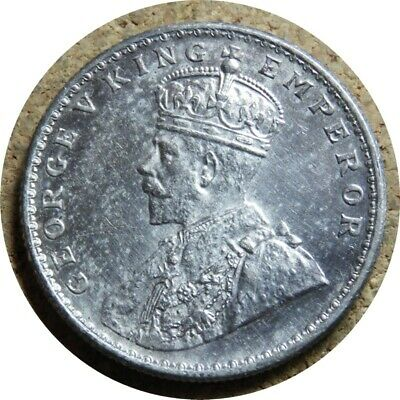 elf India British 1 Rupee 1919 (c) Silver George V