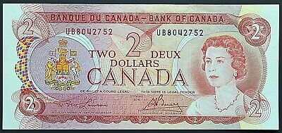 1974 Bank of Canada $2 Two Dollar Banknote - Crisp Uncirculated