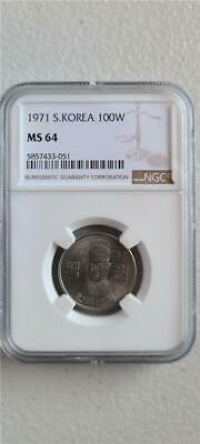 South Korea 100 Won 1971 NGC MS 64