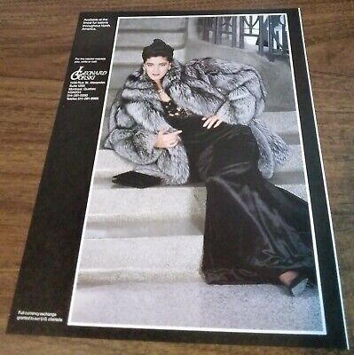 1988 1 PAGE ADVERTISEMENT - Leovard Orski Fur Fashion AD