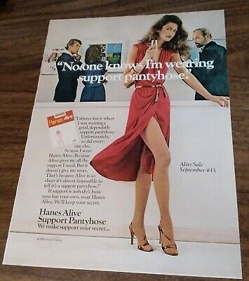 1980 1 PAGE ADVERTISEMENT Hanes Alive Pantyhose AD  No One Knows