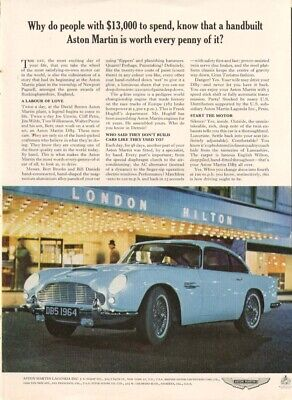 Why do people with $13,000 know Aston Martin ad 1964