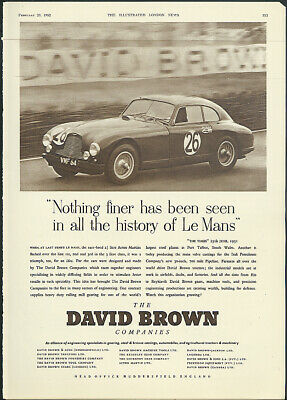 Nothing finer has been seen at Le Mans Aston Martin DB2 ad 1952