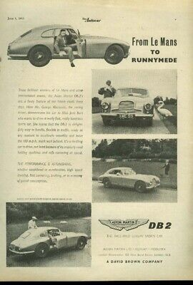 An appointment with the Aston Martin DB-2 ad 1953