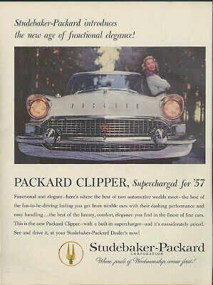 New age of functional elegance Packard Clipper Supercharged for 1957 ad