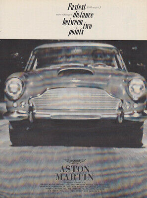 Fastest distance between two points Aston Martin DB 4 ad 1961