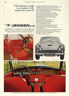 If the going is rough in a Jensen C-V8, switch the road off ad 1964