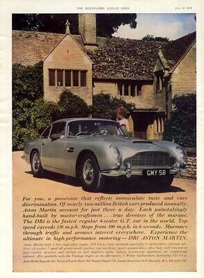 A possession that reflects immaculate taste Aston Martin DB5 ad 1965