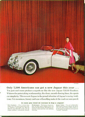 Only 7500 Americans can get a new Jaguar XK-150 ad 1959 1958