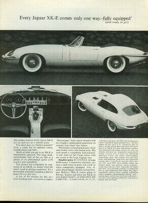 Every Jaguar XK-E Roadster or Coupe comes only one way - fully equipped ad 1963