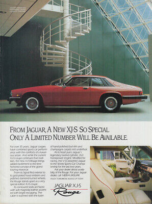 From Jaguar a new XJ-S Rogue ad 1990 Gmt