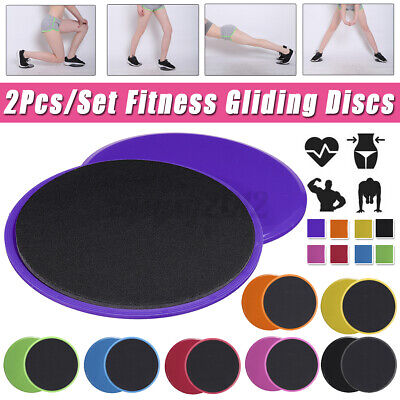 2//4x Gliding Discs Sliding Pad Workout Gym Home Fitness Exercise Training Slider