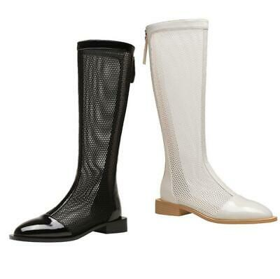 Europe Ladies New Fashion Square Toe Block Heel Knee High Knight Boots Outdoor L