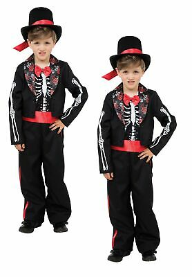 Boys Kids Dead Knight Costume Medieval Fancy Dress Halloween Outfit Age 4-12 NEW