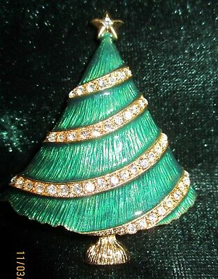 Gorgeous Vintage Signed Eisenberg Ice Christmas Tree With Clear Green Red Blue Crystal Rhinestones 1970/'s Jewelry a296b Simply Lovely
