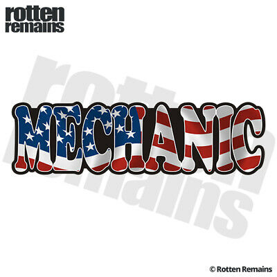 Wrench American Flag Mechanic Repair Body Shop Rear Window Sticker Decal Car Truck Suv Laptop v1 MANY SIZES and COLORS