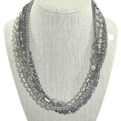 N1936 SILPADA Hematite Glass Sterling Silver Necklace