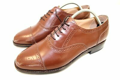 Mens New Formal Leather Shoes Tan Formal Brogues Shoes RRP £75 UK Sizes 7-12