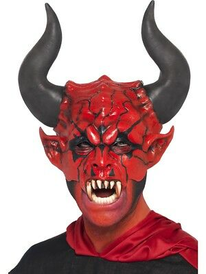 Devil Lord Mask Men Halloween Costume Adult Face Accessory New