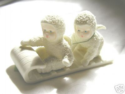 Snow Babies On Sled Dept 56 (Holly Babies)