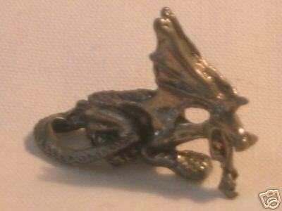 "0.1 oz Pewter Dragon 3/4"" high"