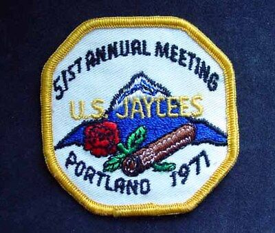 Jaycees - 51st Annual Meeting Patch, Portland 1971