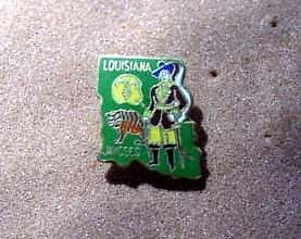 Jaycees - Louisiana State Outline Pin
