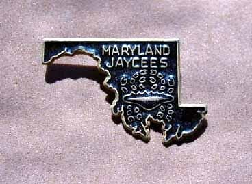 Jaycees - Maryland Crab State Outline Pin